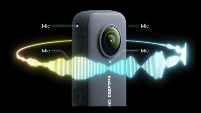 「Insta360 ONE X2」4つのマイクで音声制御